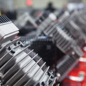 Kayis Kasnak Serisi Cift Kademeli Pistonlu Kompresor